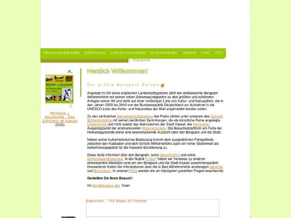 Screenshot von http://www.wilhelmshoehe.de/start.cfm
